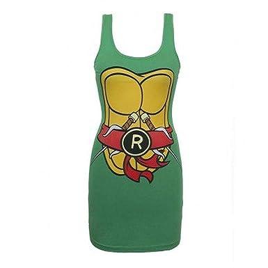 Diseño de las Tortugas Ninja Raphael sin mangas de mujer ...