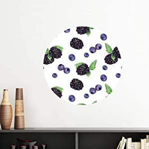 DIYthinker Blueberry Fruit Watercolor Illustration Pattern Vinyl Wall Decoration Sticker Poster Wallpaper Decal Self Adhesive