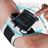 Reflective Running Armband: Fits All Phones & Arm Sizes. Runners High Visibility Safety Gear Cell Phone Holder Band Case. Vis Strap for Jogging Cycling Hiking Biking Training Walking. for Women & Men
