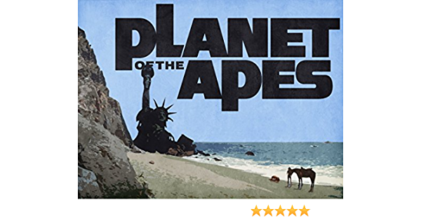 1968 PLANET OF THE APES CHARLTON HESTON BY STATUE OF LIBERTY 8X10 ICONIC PHOTO