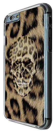 692 - Leopard Pattern Sugar skull Design iphone 6 6S 4.7'' Coque Fashion Trend Case Coque Protection Cover plastique et métal