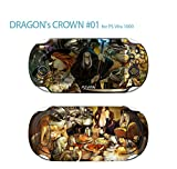 Skin Decal Sticker For Ps Vita 1000 Series Pop Skin-Dragon's Crown #01+Screen Protector+Offer Wallpaper Image