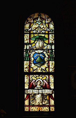 Photograph| Stained-glass window at the Catholic Basilica of St. Lawrence in Asheville, North Carolina 1 Fine Art Photo Reproduction 44in x 66in