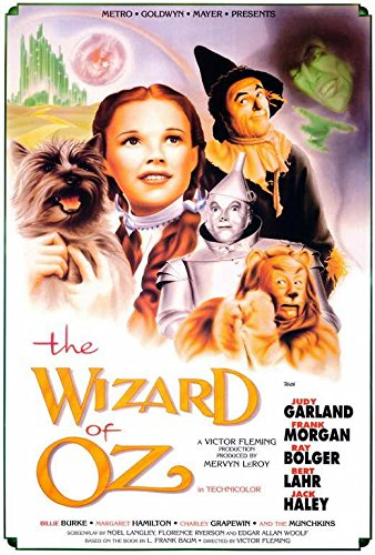 The Wizard of Oz Movie POSTER 27 x 40, Judy Garland, Frank Morgan , B, MADE IN THE U.S.A.