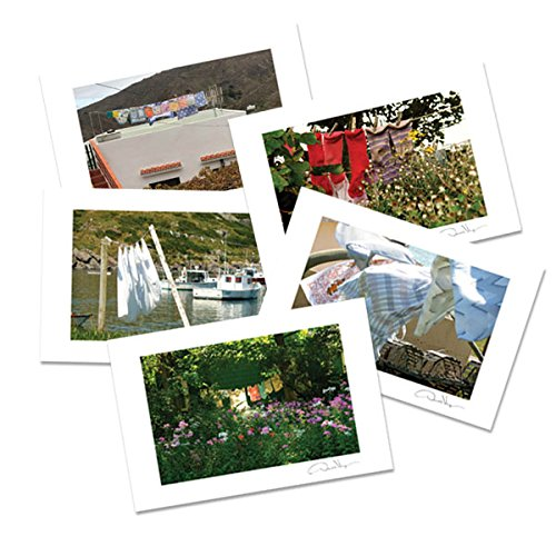 On the Line. Laundry Art Postcard Variety Pack. 4x6, 2 Each of 5. Best for Birthday Cards, Thank You Notes, Invitations. Unique Christmas, Mother's Day & Valentines Gifts for Men, - Mothers Shipping Free Day Cards