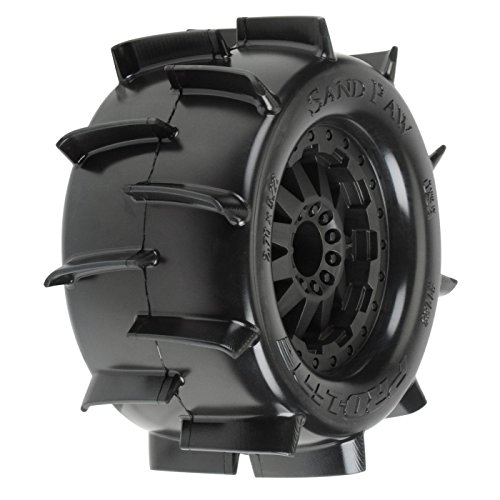 Pro-line Racing Sand Paw 2.8, TRA Bead, MNT F11 Blk Whl: JATO,NST, PRO118614 (Blk Paddle)