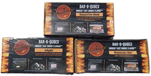 Mojobricks Bar-B-Qubes Combo Pack - Competition, mApple, and