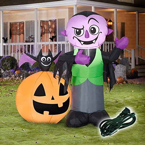 Halloween Inflatable Decorations Outdoor Yard (Vampire, Bat, and Jack O Lantern)