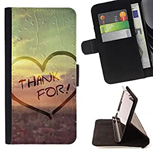 For Samsung ALPHA G850 - Love Thank For /Funda de piel cubierta de la carpeta Foilo con cierre magn???¡¯????tico/ - Super Marley Shop -
