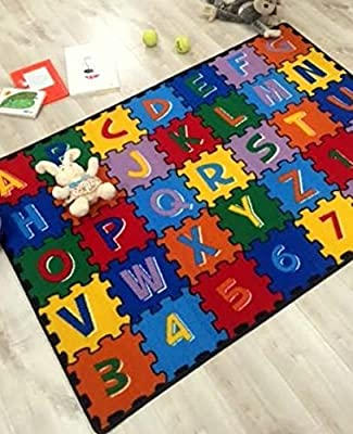 Hr's 8ftx11ft Kids Educational/playtime, Non-slip Rug 7ft.4inx10ft.4in