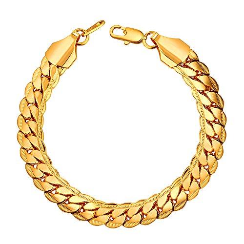 U7 Fashion 6MM 9MM Plated Bracelet