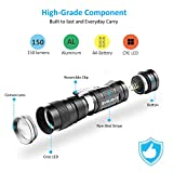 Pack of 4 Flashlights, 180 Lumens Small Flashlight Super Bright Zoomable Mini Pocket LED Flashlight with Clip, 3 Modes for Outdoors and Indoors (Camping, Hiking, Emergency, & Kids)