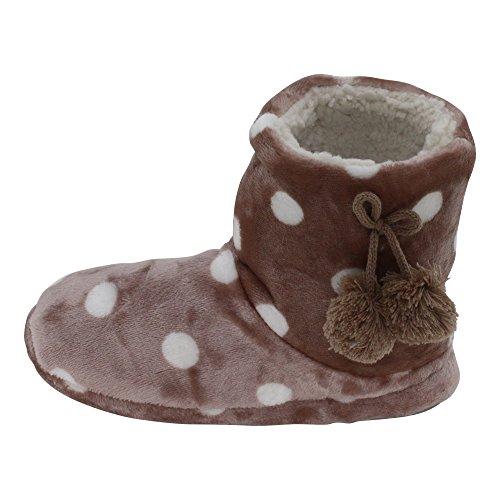 brandsseller - Zapatillas de estar por casa de Material Sintético para mujer marrón claro