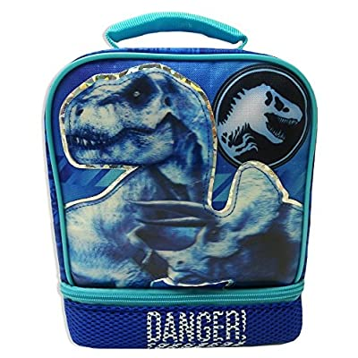 JURASSIC WORLD PARK Fallen Kingdom BPA & PVC Safe Insulated Lunch Tote Bag Box: Kitchen & Dining