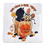 Tufted Chair Cushion Halloween Kitten Candy Pumpkin