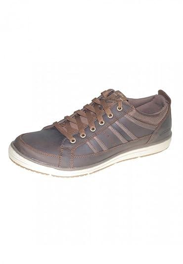 Skechers Chaussures Sneaker Irvin Hamal 63418 Chocolate