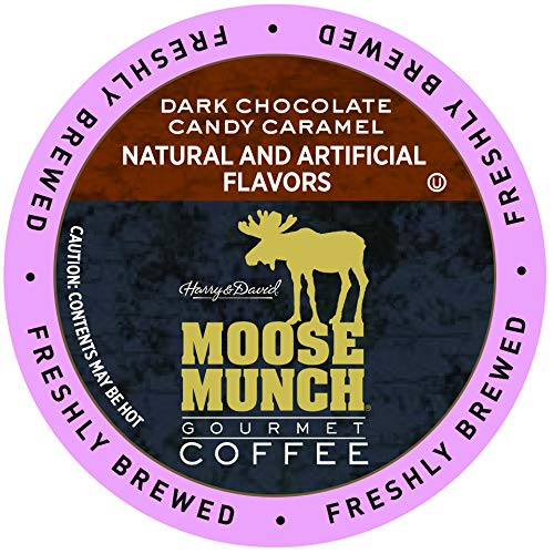 Moose Munch Coffee in Single Serve Cups for use with all Keurig K-Cups Brewers 36 Count (Dark Chocolate Candy ()