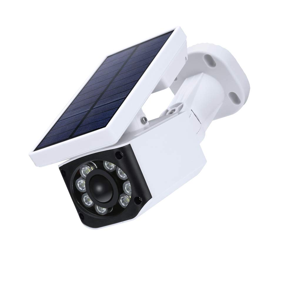 HHGAOKO Solar Lights Motion Sensor Dummy Fake Security Camera Outdoor Flood Light Excellent Illumination Waterproof Easy-to-Install