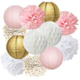 Best Birthday Party Favors - Furuix 12pcs Pink Gold Party Decoration Kit Tissue Review