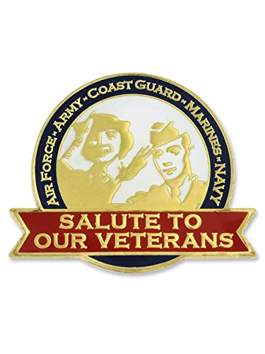 (PinMart Salute to Our Veteran's Military Jewelry Lapel Pin w/Magnetic Backing)