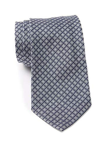 Boss Hugo Boss Diamond Pattern Italian Silk Tie, Med-grey/blue 50324419