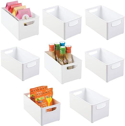 mDesign armario de cocina apilable de plástico, refrigerador ...