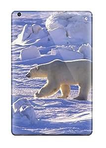 High Impact Dirt/shock Proof Case Cover For Ipad Mini/mini 2 (snow Animals)