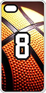 Basketball Sports Fan Player Number 7 White Plastic Decorative iPhone 5c Case
