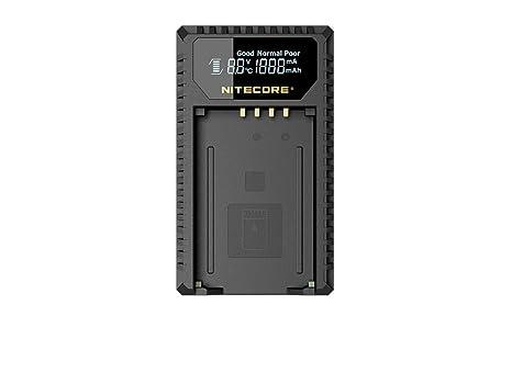Nitecore nitulm240 Cargador con Pantalla LCD para Leica M/M10/MP/m240p para batería BP-scl2 Negro