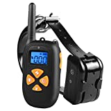 Dog Training Collar Tool Waterproof Rechargeable Behavior Educator Correction Control Stop Bark Remote 1450Ft Beep/Vibration/ Shock for Small Medium Large Dogs Review