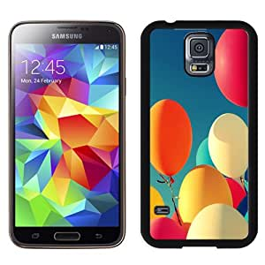 Beautiful Custom Designed Cover Case For Samsung Galaxy S5 I9600 G900a G900v G900p G900t G900w With Colorful Balloons Under The Sunshine Phone Case Cover