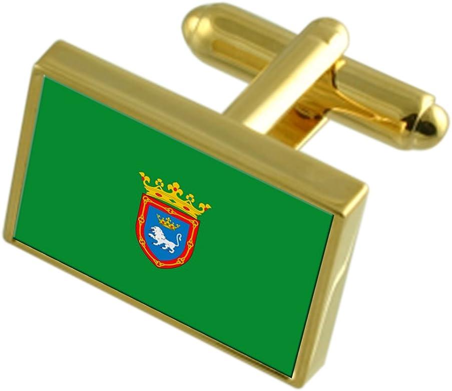 Select Gifts Pamplona España Bandera de Oro Gemelos: Amazon.es: Joyería