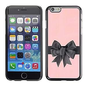 "For Apple iPhone 6 / 6S (4.7 inches!!!)/6S (4.7 INCH) Case , Arco de regalo de satén de seda rosa gris Envoltura"" - Diseño Patrón Teléfono Caso Cubierta Case Bumper Duro Protección Case Cover Funda"