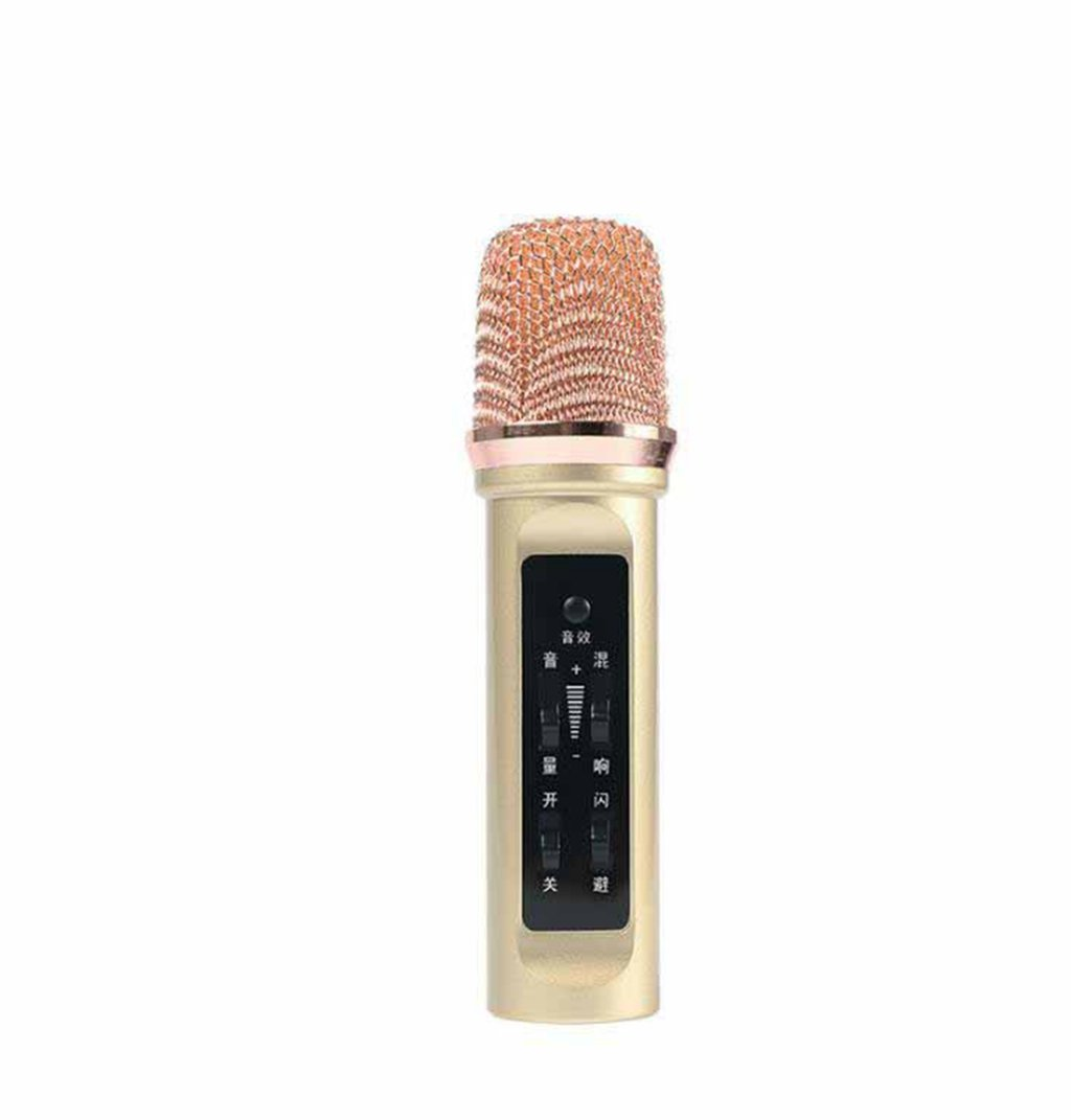 Kaxima Mobile microphone, condenser microphone, singing microphone, microphone, you can connect two mobile phones at the same time, 13.2x3.4cm