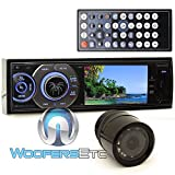 pkg Soundstream VR-345B In-Dash 1-DIN 3.4'' DVD Stereo Receiver + XO Vision HTC 36 Backup Camera with Nightvision