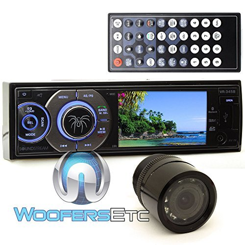 pkg Soundstream VR 345B In Dash 1 DIN 3.4 DVD Stereo Receive