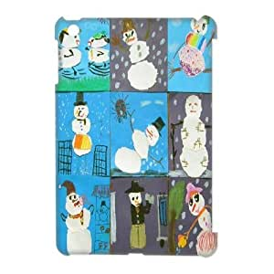 DIY snowman 3D Phone Case, DIY 3D Case Cover for ipad mini with snowman (Pattern-4)