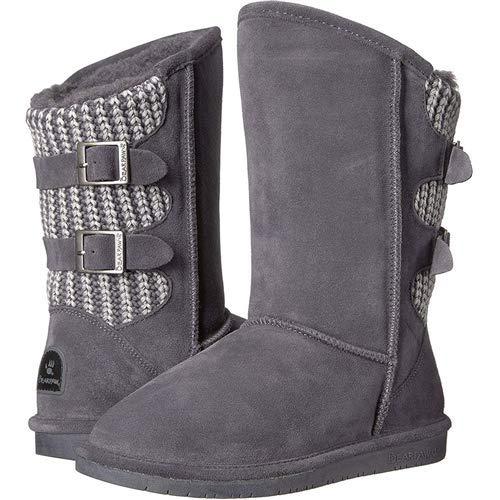 BEARPAW Women's Boshie Winter Boot, Charcoal, 7 M US ()