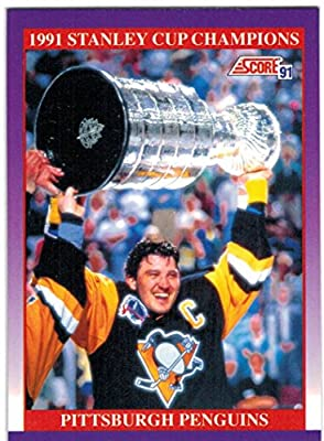 1991-92 Score & Rookie Traded Pittsburgh Penguins 1991 & 92 Stanley Cup Champs Team Set with 2 Jaromir Jagr & 4 Mario Lemieux - 25 Cards