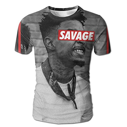 XINSHOU 21 Savage Men's 3D All Print Short Sleeve Tshirt