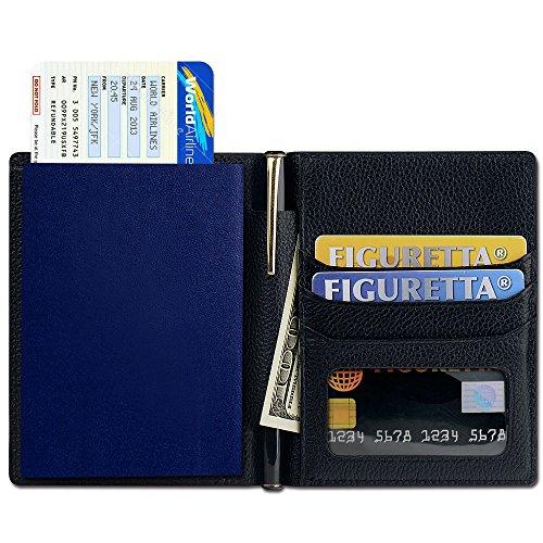 Passport Holder, SHANSHUI Primely Genuine Leather RFID Blocking Wallet Cover
