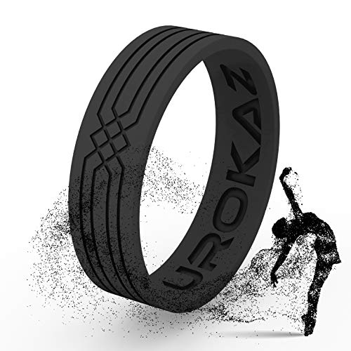 Silicone Wedding Ring for Women and Men - Mens Rubber Wedding Ring - Thin Woman Silicone Wedding Band - Male and Female Band colors include black, red, rose pink and more - Size are from 4 to 16
