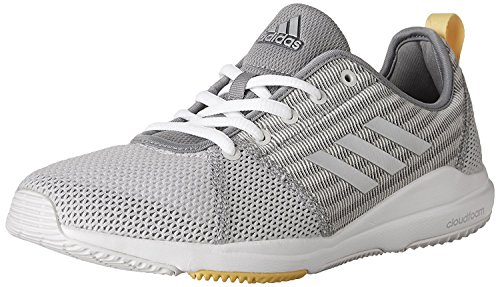 adidas Performance Women's Shoes | Arianna Cloudfoam Cross-Trainer Ankle-High Running Shoe, Grey/Silver...