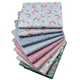 Vintage Floral Fat Quarters Fabric Bundles, Precut Quilting Fabric for Sewing,18x22 Larger Image