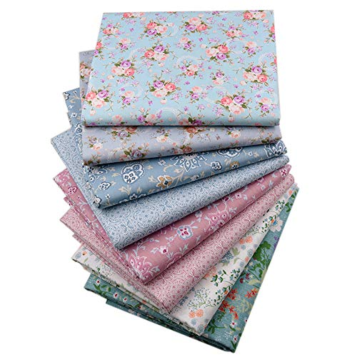 "Vintage Floral Fat Quarters Fabric Bundles, Precut Quilting Fabric for Sewing,18""x22"""