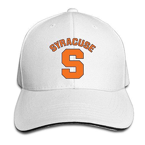 Hotgirl4 Adult Syracuse University With S Logo Adjustable Baseball Hat White