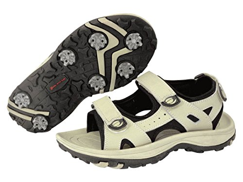 Orlimar Women's Athena Golf Sandal, Taupe/Black, Size 7/Medium by Orlimar