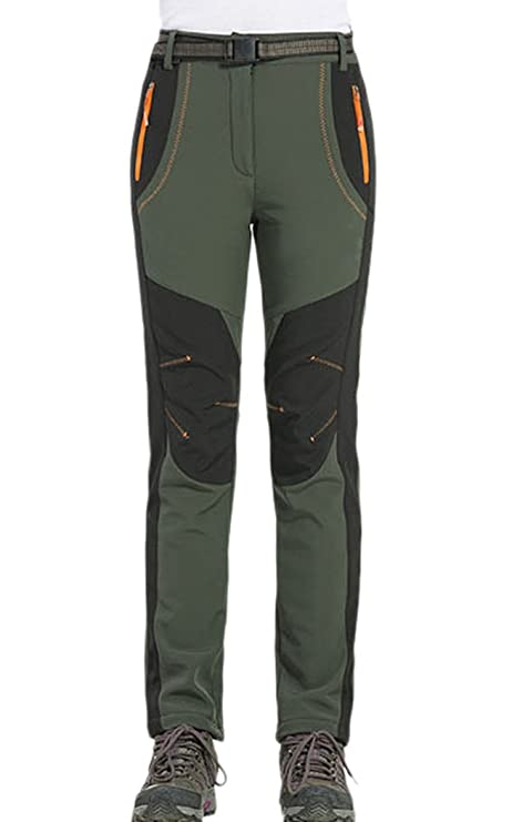 CATERTO Women Fleeced Snow Hiking Pants Water Repellent Windproof Outdoor  Sports Softshell Winter Pants 88b76e7e6