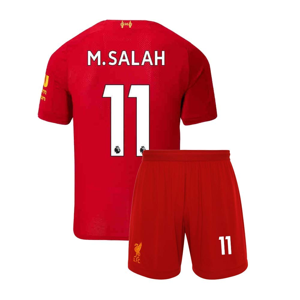 HZIJUE 19//20 Liverpool New Soccer Home 11 M Salah Kids Youths Jersey /& Shorts