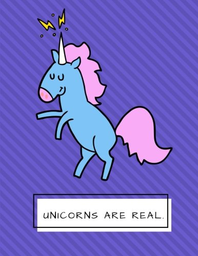 Unicorns Are Real: Violet Stripes Cute Unicorn Notebook, Journal, Diary, 125 Lined Pages (Large, 8.5x11 in.) (Creative Notebooks) ebook